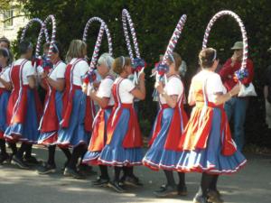 Folk dancers at the Swanage Folk Festival