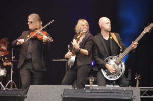 The band The Churchfitters performing on stage