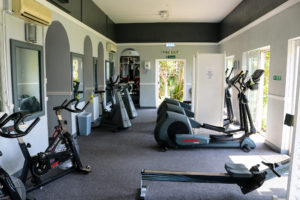 Exercise bikes at the Grand, Swanage