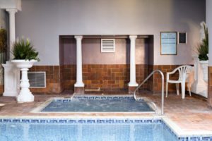 The Grand Hotel's Jacuzzi area
