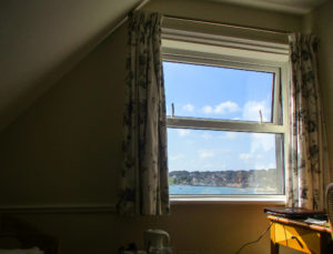 Sea view from bedroom of Swanage Grand Hotel