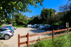 Parking area, Swanage Youth Hostel
