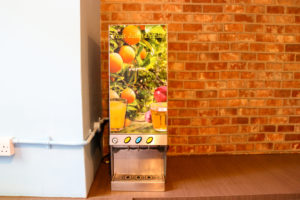 Drinks machine in dining area, Swanage hostel