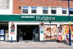 The entrance to Swanage's Budgens store