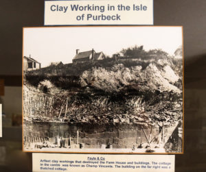 Poster on Purbeck clay mining in Corfe Castle Museum