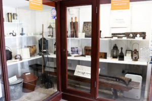 Historical Items and artefacts on display at the museum in Corfe Castle