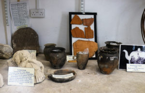 Historical pottery and stonework display, Corfe Castle Museum