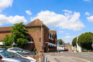 Outside Dorchester Waitrose from car park