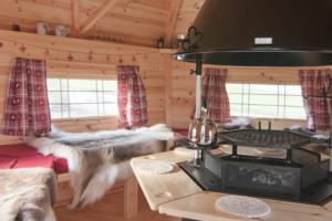 Interior of Lapland Lodge at Harman's Cross, near Swanage