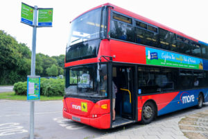 Bus at Norden train station