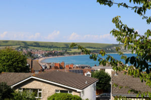 Purbeck Hills from the YHA Swanage