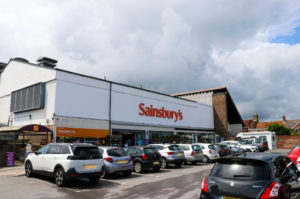 Outside the Sainsbury's shop in Wareham, at the Rempstone car park