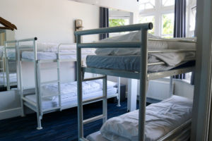 Bunkbeds to sleep four in the youth hostel in Swanage