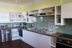 Self-catering cooking equipment in the kitchen of YHA Swanage