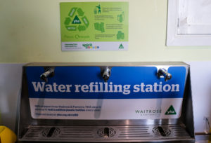 Water refilling station at Swanage's youth hostel