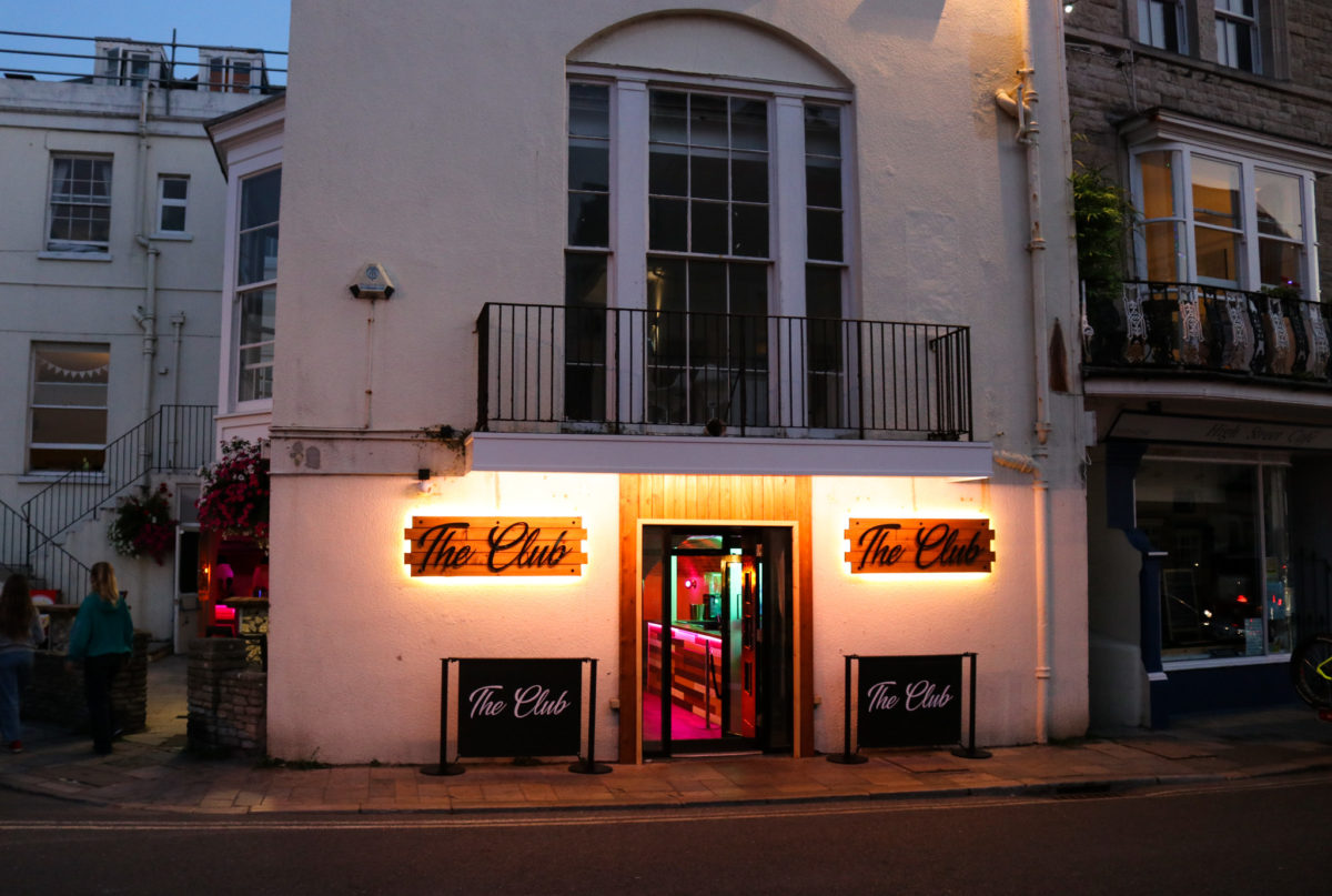 Outside Swanage's nightclub on High Street