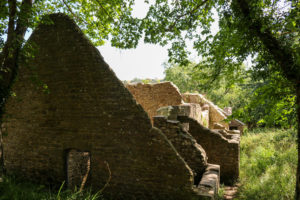 What remains of The Row cottages, Tyneham