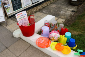 Buckets and spades available to borrow from the information centre on Shore Road, Swanage