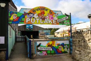 Putlake Farm entrance and welcome sign, Langton Matravers