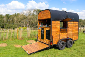 Purbeck Ice Cream wagon at the pop-up cafe in Purbeck