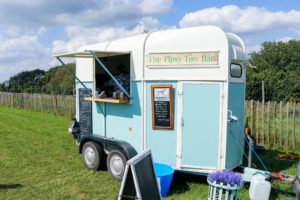 The Tipsy Tow Bar selling snacks at the Purbeck Pop-Up café