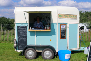 The Tipsy Tow Bar sandwich and drink van at Pop-Up on the Hill, Purbeck