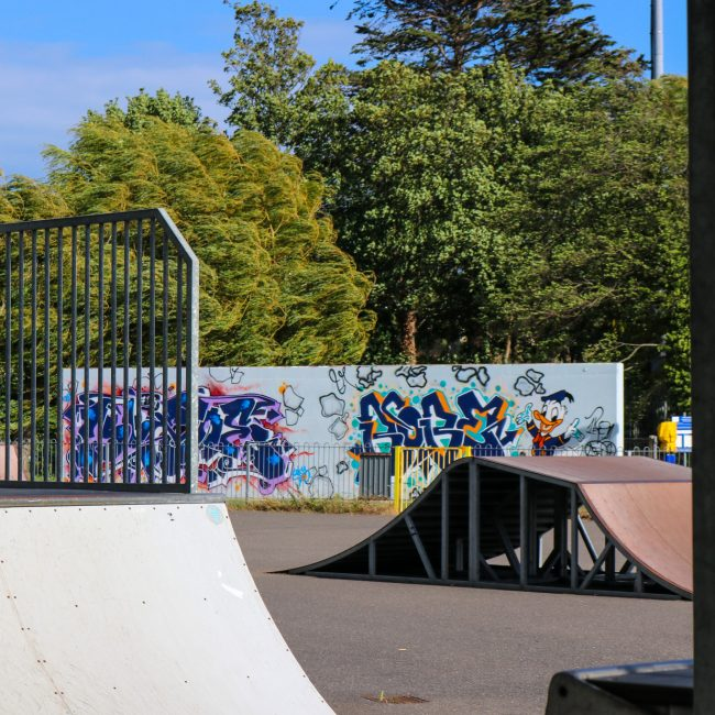 King George playing fields and skate park