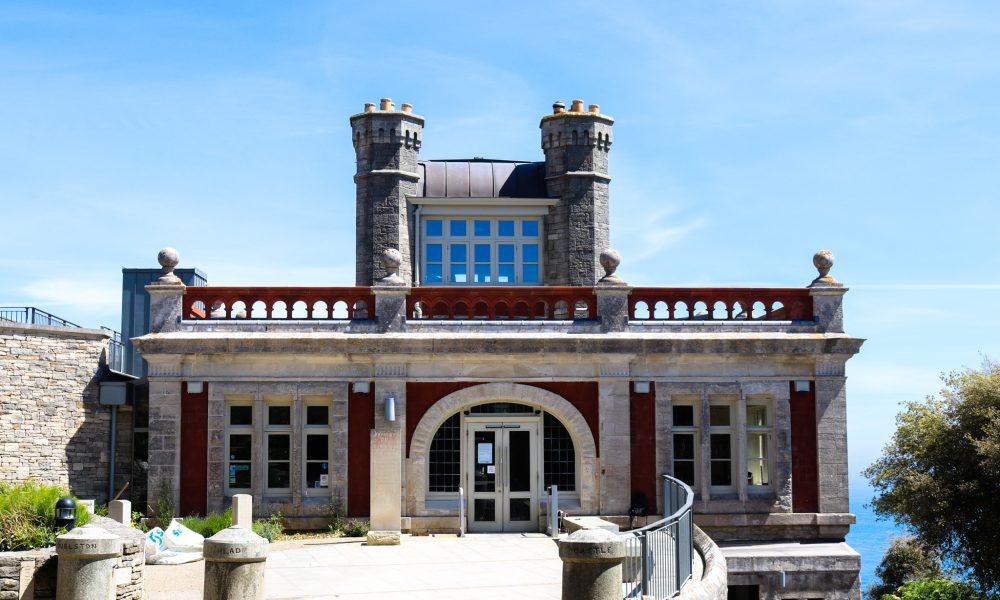 Front entrance of Durlston Castle