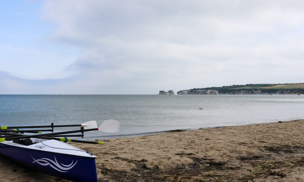 Kayak on Knoll Beach in Studland