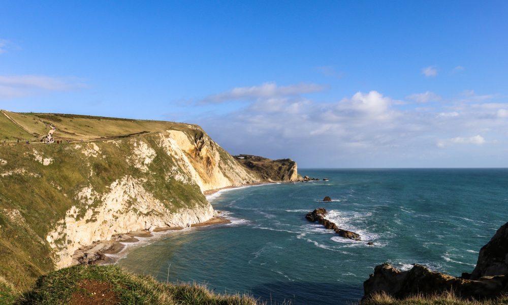 Man O' War Bay from Durdle Door cliff walk