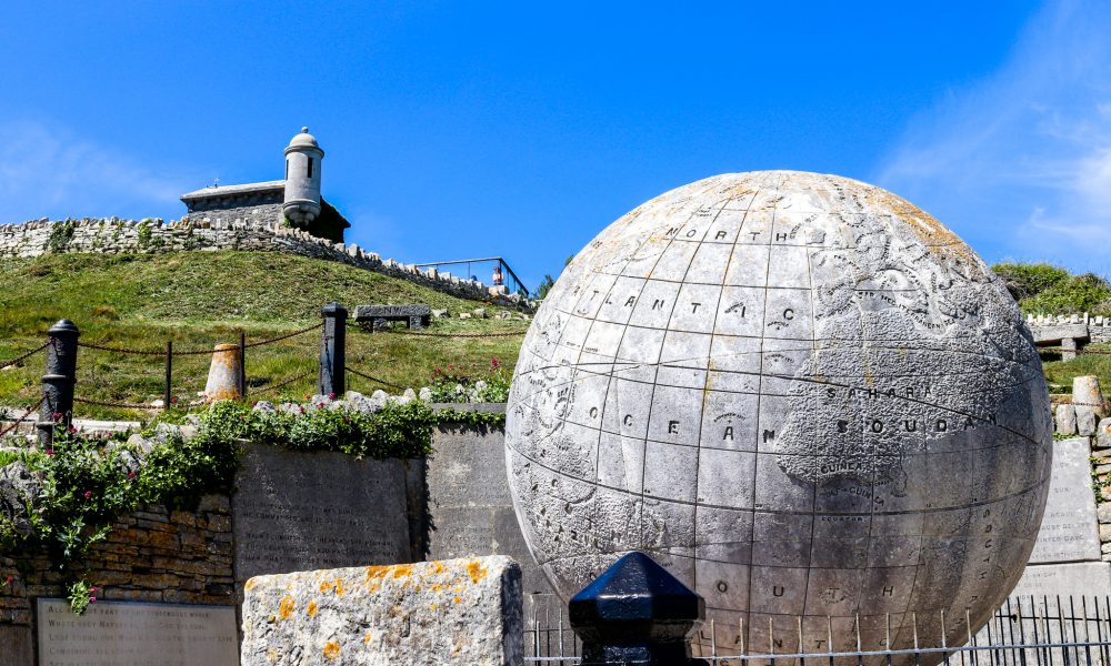 The globe and castle at Durlston Country Park
