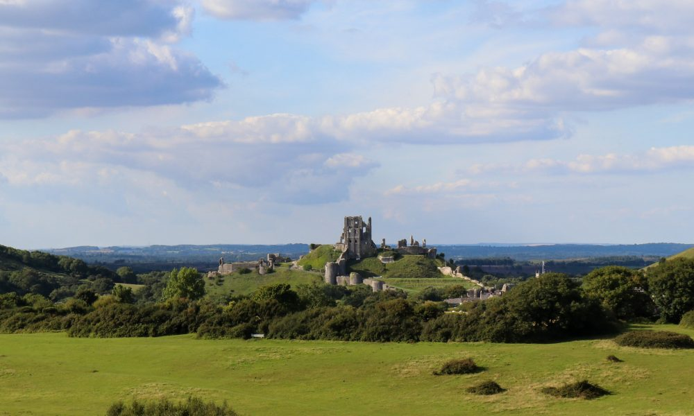 Corfe Castle view from Corfe Common