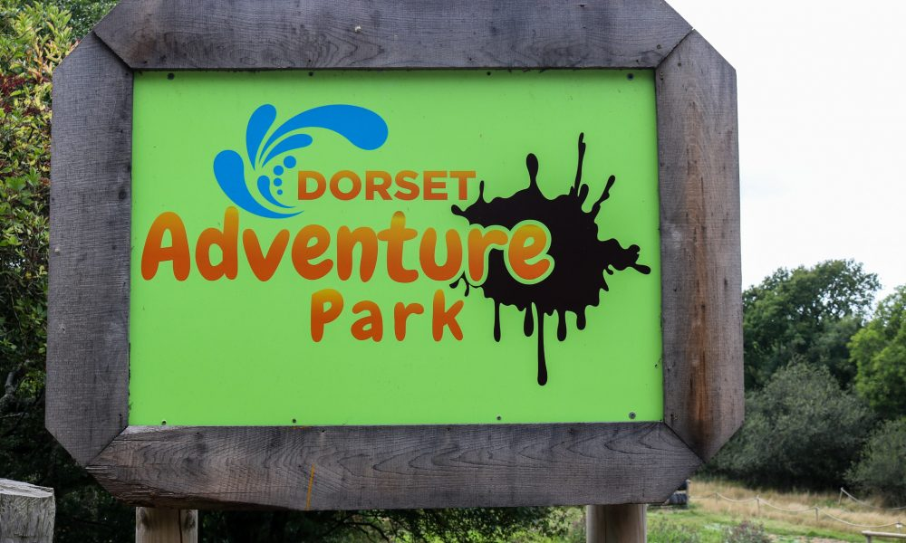Sign outside Dorset Adventure Park