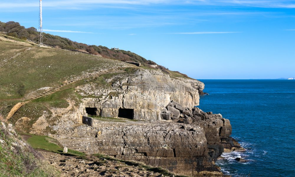 Old quarry caves, Tilly Whim, at Durlston Country Park