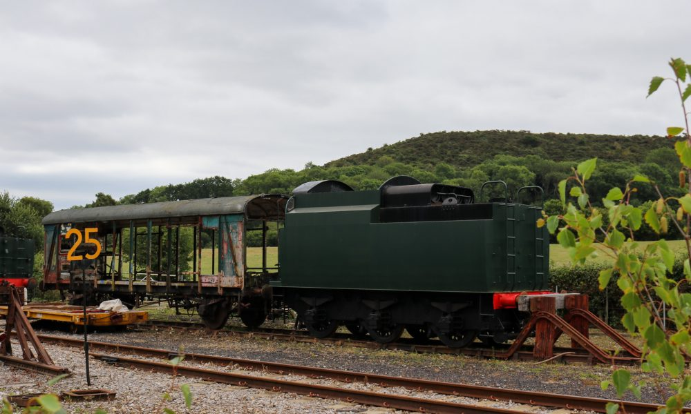 Disused carriage at Norden railway station