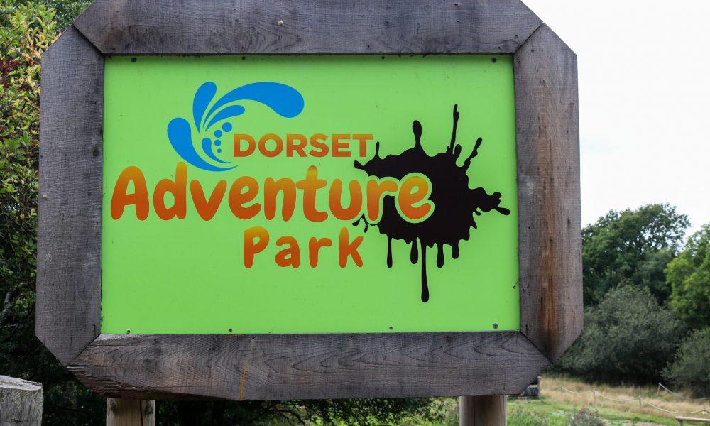 Sign outside Dorset Adventure Park