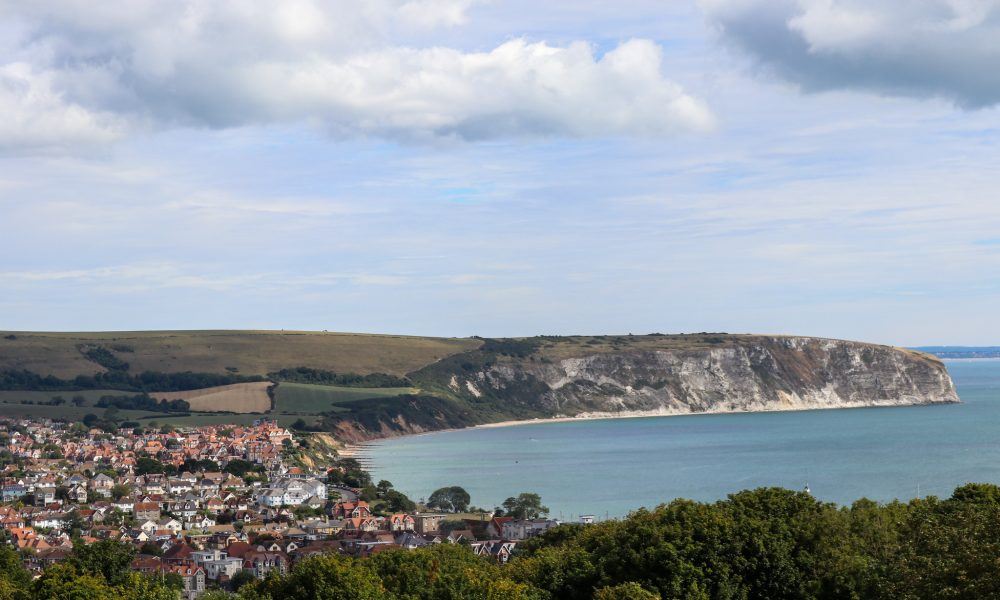 Swanage Bay and view from Townsend Nature Reserve
