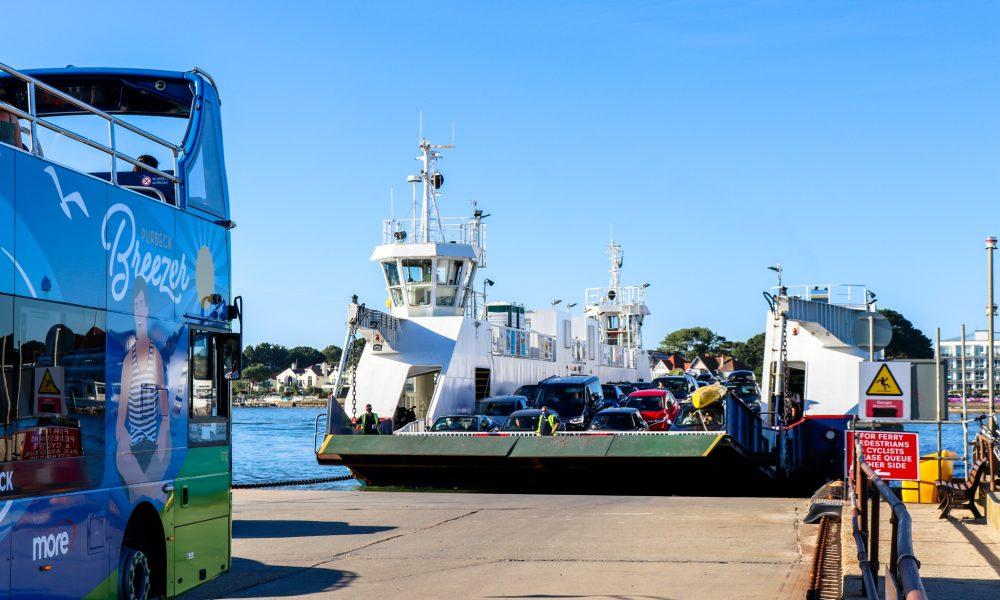 Purbeck Breezer bus and Sandbanks chain ferry