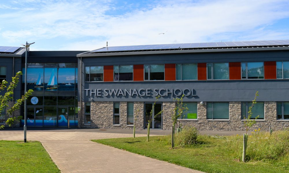 The Swanage School building on the Isle of Purbeck