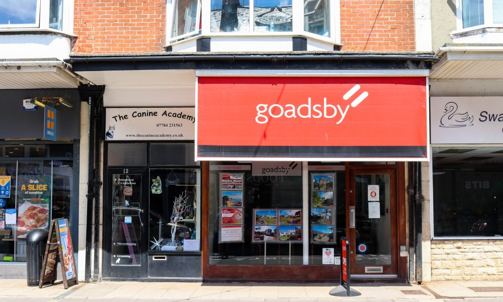 Exterior of Goadsby estate agents in Swanage